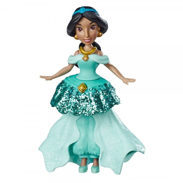 Black Friday - Disney Princess Jasmine Doll with Royal Clips Fashion, One-Clip Skirt