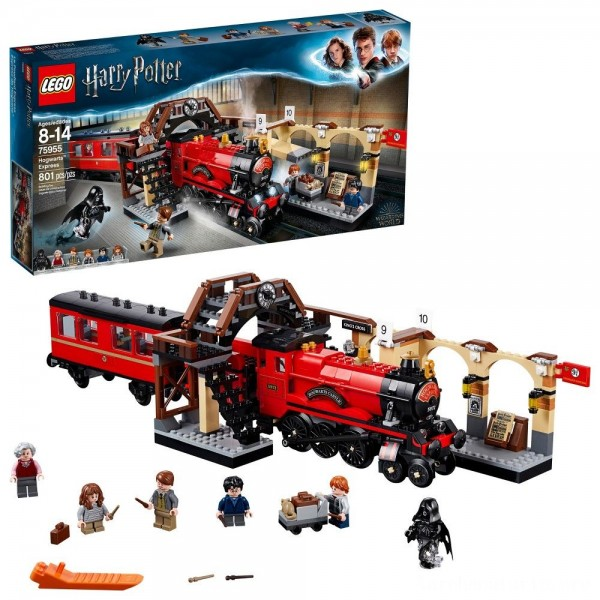 Black Friday - LEGO Harry Potter Hogwarts Express Train Set with Harry Potter Minifigures and Toy Bridge 75955