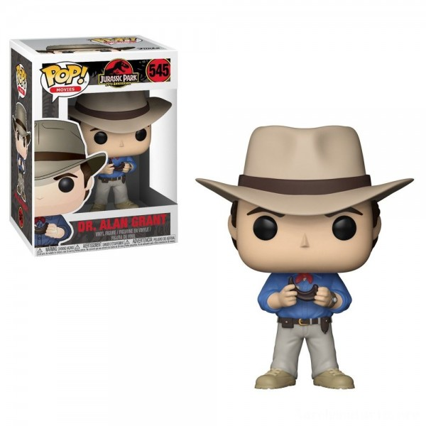 Black Friday - Funko POP! Movies: Jurassic Park 25th Anniversary - Dr. Alan Grant - Minifigure