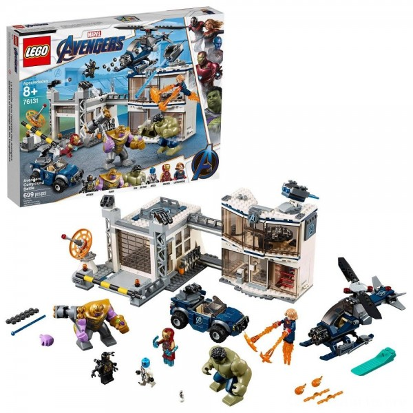 Black Friday - LEGO Marvel Avengers Compound Battle Collectibles Building Set with Superhero Minifigures 76131