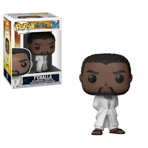Funko POP! Marvel: Black Panther - T'Challa in White Robe