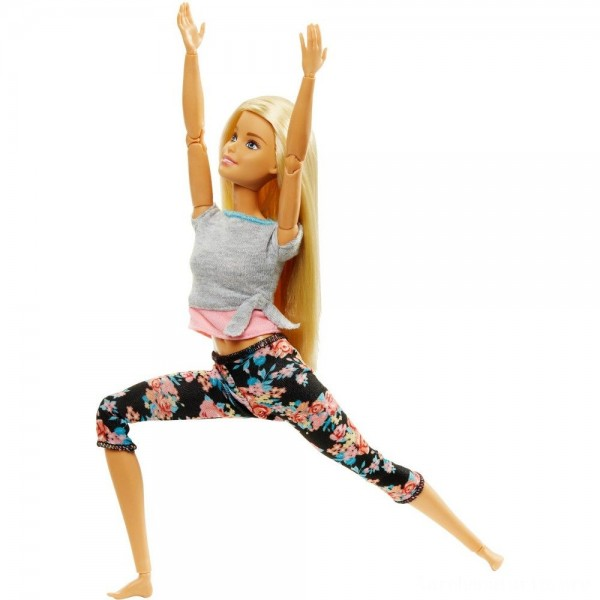 Barbie Made To Move Yoga Doll - Floral Pink