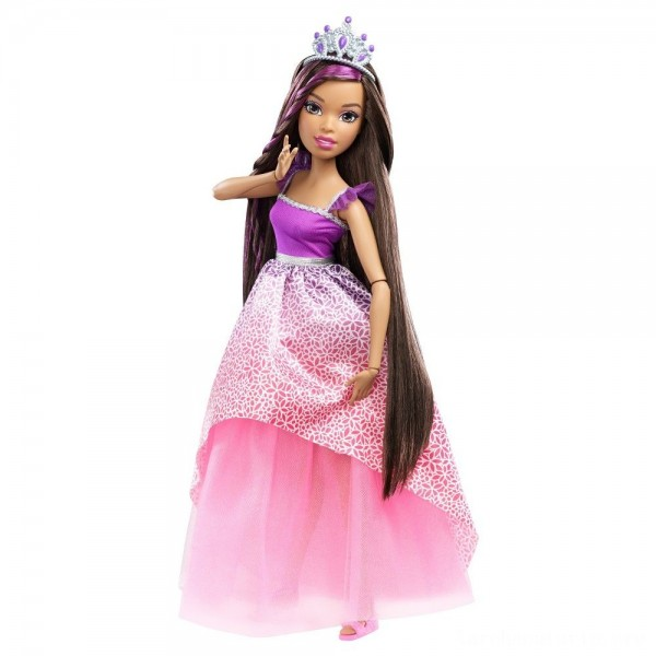 "Black Friday - Barbie Dreamtopia Princess 17"" Nikki Doll"