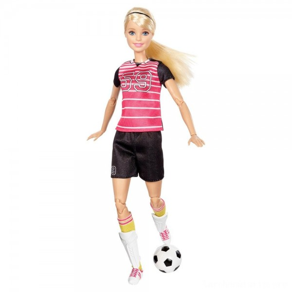 Black Friday - Barbie Made To Move Soccer Player Doll
