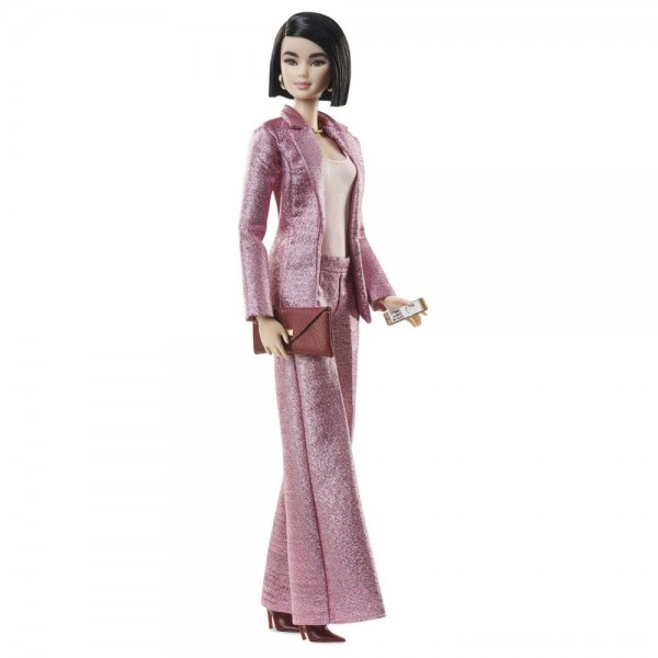 Barbie Signature Styled By Chriselle Lim Collector Doll in in Pink Pant Suit