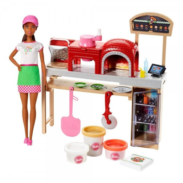 Black Friday - Barbie Careers Pizza Chef Nikki Doll and Playset