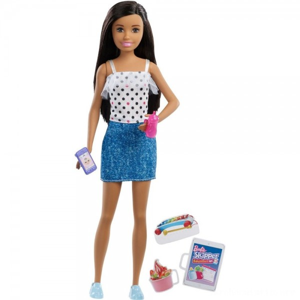 Black Friday - Barbie Skipper Babysitters Inc. Black Hair Doll Playset