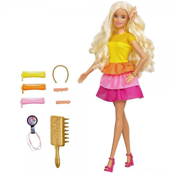 Black Friday - Barbie Ultimate Curls Doll and Playset