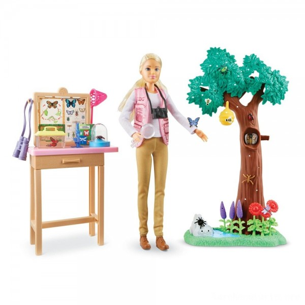 Black Friday - Barbie National Geographic Butterfly Scientist Playset