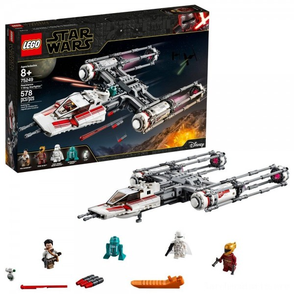 Black Friday - LEGO Star Wars: The Rise of Skywalker Resistance Y-Wing Starfighter 75249 New Advanced Collectible Starship Model Building Kit 578pc