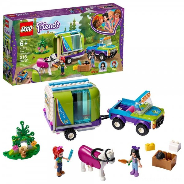 Black Friday - LEGO Friends Mia's Horse Trailer 41371 Building Kit with Mia and Stephanie Mini Dolls 216pc