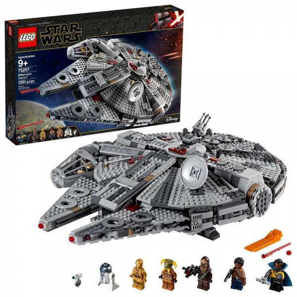 Black Friday - LEGO Star Wars: The Rise of Skywalker Millennium Falcon Building Kit Starship Model with Minifigures 75257