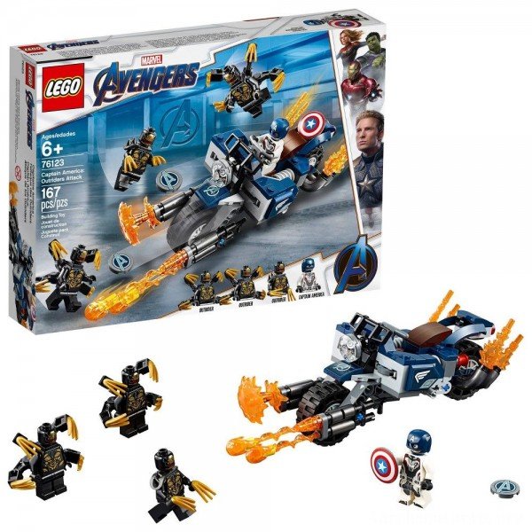LEGO Super Heroes Marvel Avengers Movie 4 Captain America: Outriders Attack 76123