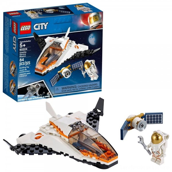 Black Friday - LEGO City Space Satellite Service Mission 60224 Space Shuttle Toy Building Set 84pc