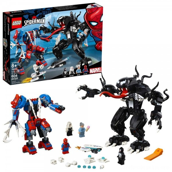 Black Friday - LEGO Marvel Spider Mech Vs. Venom Ghost Spider Superhero Playset with Web Shooter 76115